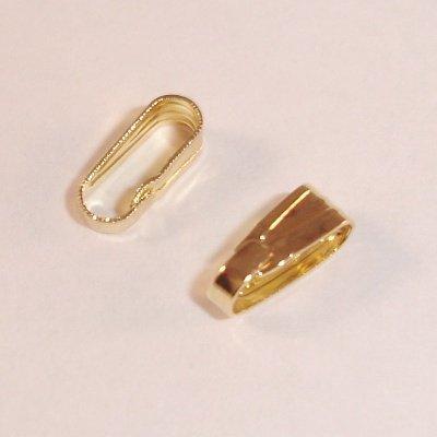 metalen haakje 8x3 mm goud
