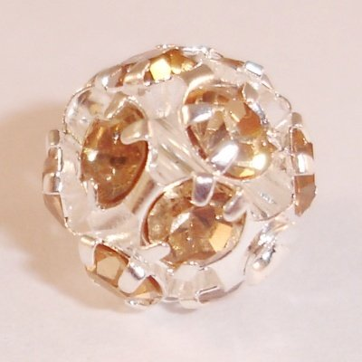 metalen strass bol 8 mm l.colorado topaz