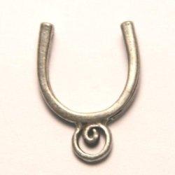 tussenzetsel voor 14mm kraal antiek zilver