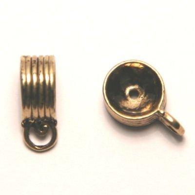 tussenzetsel voor kralen 12mm goud