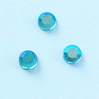 strass plaksteen kristal aqua AB 4 mm