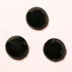 strass plaksteen kristal zwart 5 mm