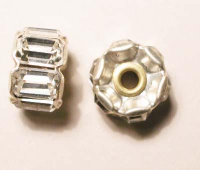 strass rondel zilver 12 mm