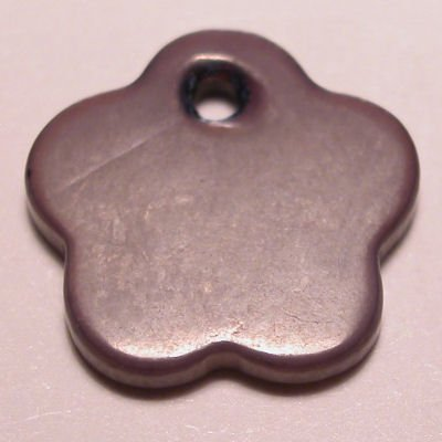 parelmoer hanger bloem paars 12 mm