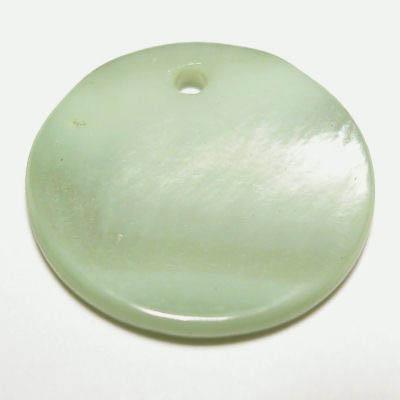 parelmoer hanger rond lime 20 mm