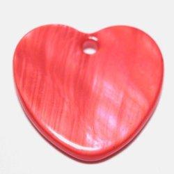 parelmoer hanger hart koraal 20 mm