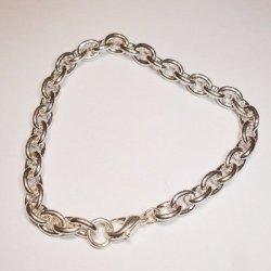 armband met sluiting zilver 18 cm