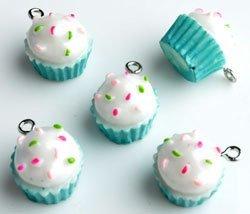cupcake blauw 12x15 mm