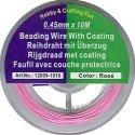 draad acculon roze kleurig 0,45 mm