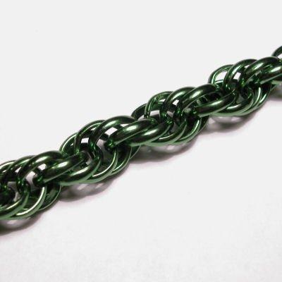 dubbel anker ketting groen 8mm