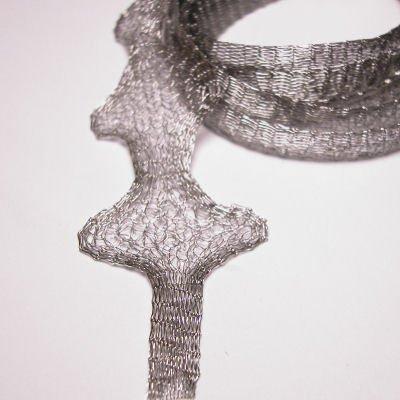 mesh wire 6mm zilver