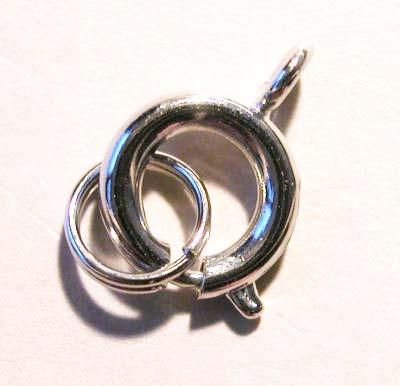 veersluiting met ring platina 7 mm