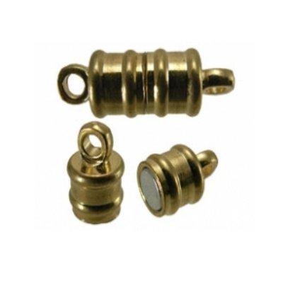 magneetsluitins tonnetje goud 6 x 17 mm