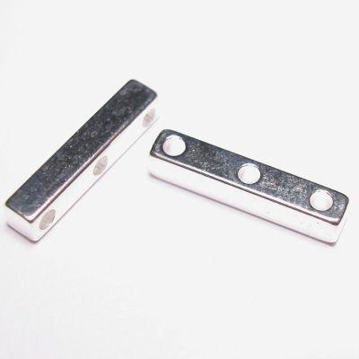 verdeler 3-rij zilver 3 x 15 mm