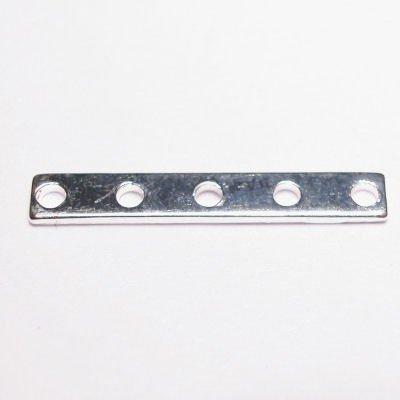 verdeler 5-rij zilver 3 x 20 mm