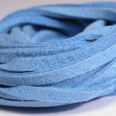 veter kunstsuede middelblauw 3 mm