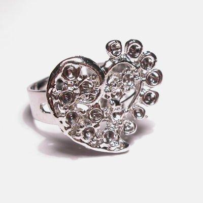 verstelbare ring ornament hart
