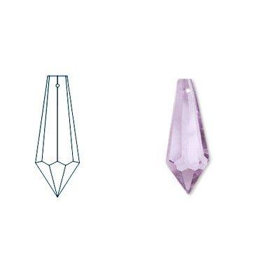 kristal hanger drop 65x21 mm rose
