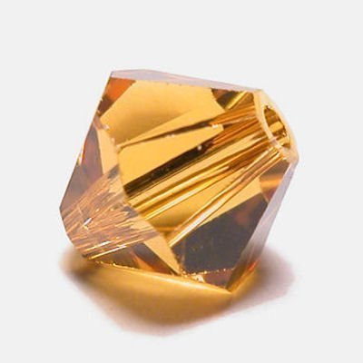 swarovski facet 4mm topaz