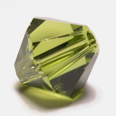 swarovski facet 4mm olivine