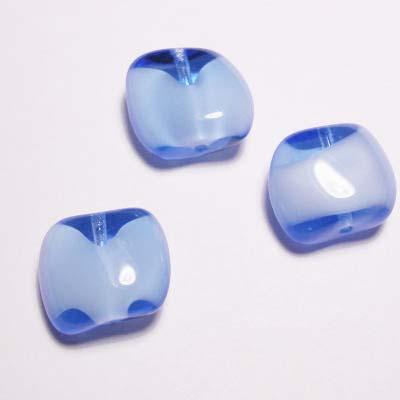 glaskraal blauw 14x16 mm