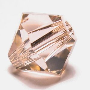 swarovski facet 6mm light peach