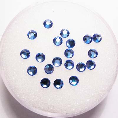 swarovski plaksteen rond sapphire 3 mm