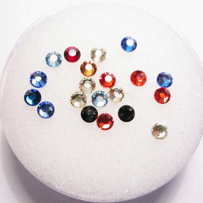 swarovski plaksteen rond mix 3 mm