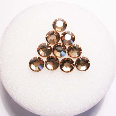 swarovski plaksteen rond light topaz 4 mm