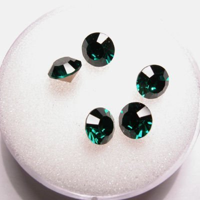 swarovski similisteen rond emerald 6 mm