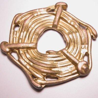 ethnic touw 6-oog mat goud 45x52 mm
