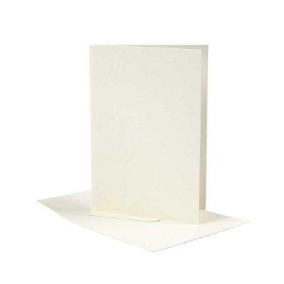 kaart rechthoek off-white 10,5x15 cm