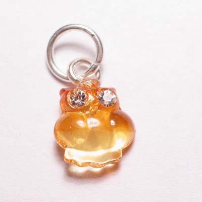 acryl uiltje geel oranje 8x8 mm
