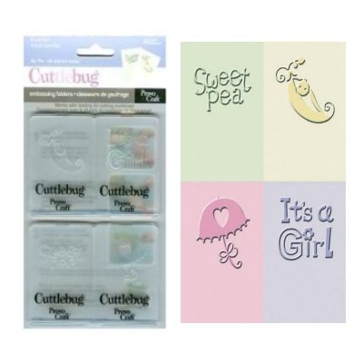 """Embossing set """"it's a girl'"""
