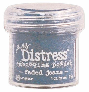 embossing poeder faded jeans