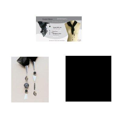 sjaal juweel kit 52x150 cm zwart