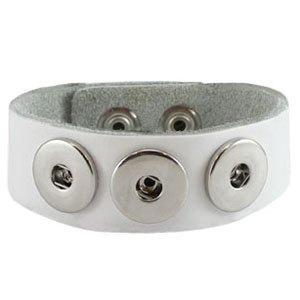 Easy button armband gebroken wit