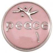 Easy button peace licht roze