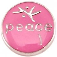 Easy button peace donker roze