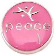 Easy button peace donker roze