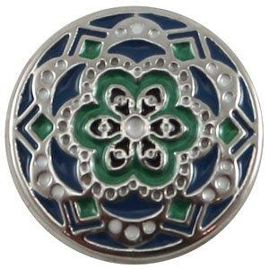 Easy button bloem blauw groen