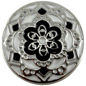 Easy button bloem zwart wit