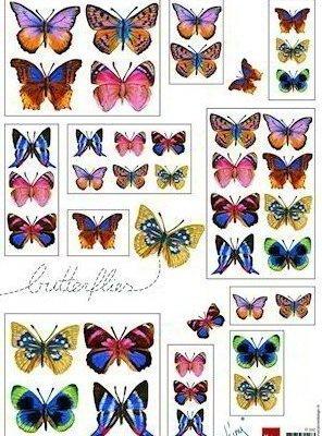 knipvel vlinders blauw