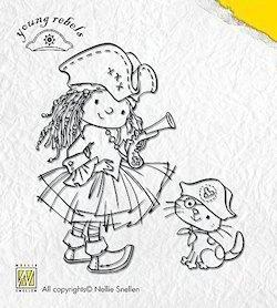 Clear stempel meisjes piraat