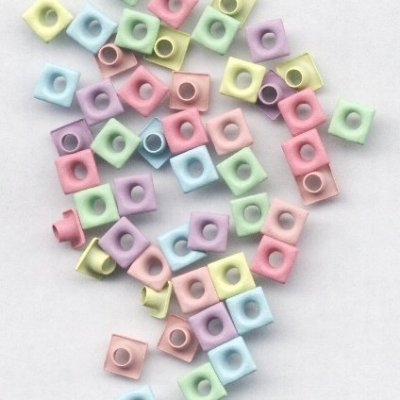 eyelets vierkant 6 mm pastel kleuren