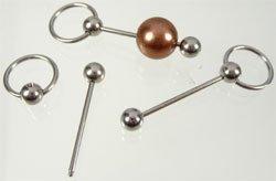 metalen hanger/nietstift RVS 49x13 mm zilver
