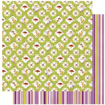 scrapbooking elfjes, bloemen en paddestoelen 30,5x30,5 cm
