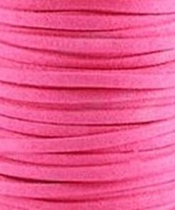 Faux suede 3mm Roze