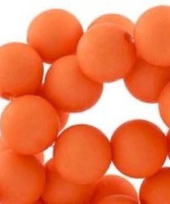 Acryl kralen mat 10mm Oranje