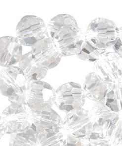 Top Facet kralen rond 8mm Crystal